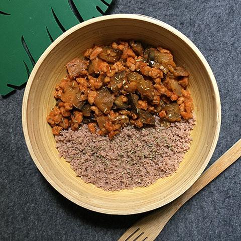 couscous aubergine soja