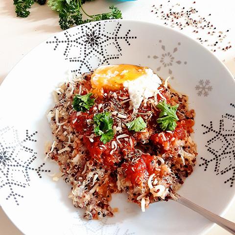 quinoa coulis de tomate