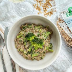 Risotto de crozets au brocoli et chèvre