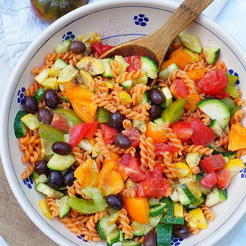 salade-pates-lentilles